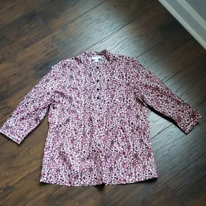 Charter Club botanical print blouse/shirt